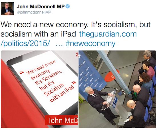 John McDonnell MP, being properly weird
